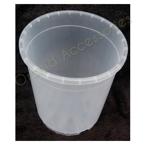 17cm Round Clear Pot.Sold in Packs of 5