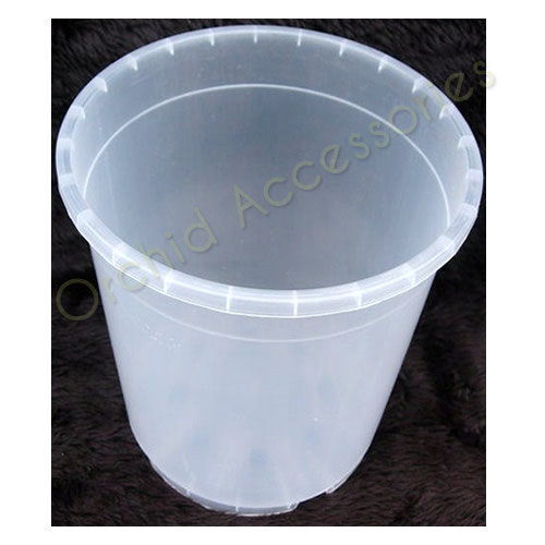 21cm Round Clear Pot,Sold in Packs of 5 Only