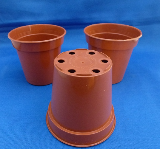 "Terracotta Plastic Pots 3"" 76mm in packs of 10"