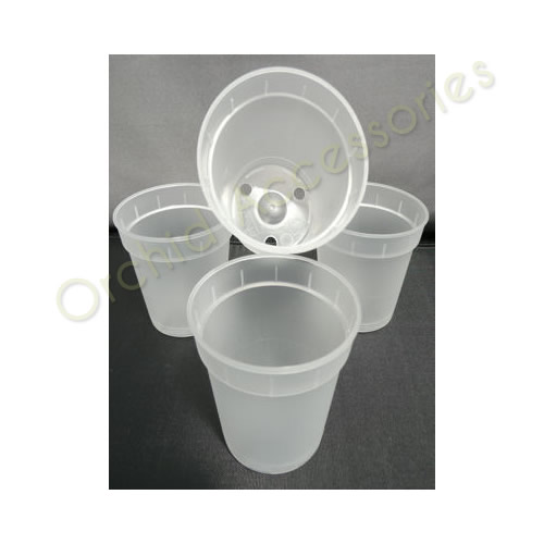 6cm Clear Pot Round Pots, 10 Per Pack