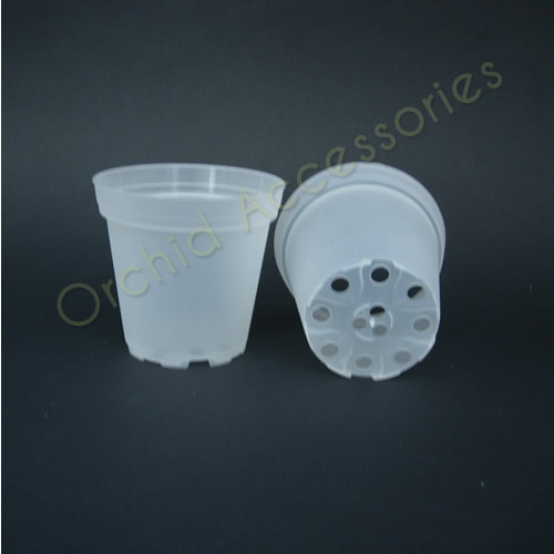 7cm Round Clear Pot, 10 Per Pack.