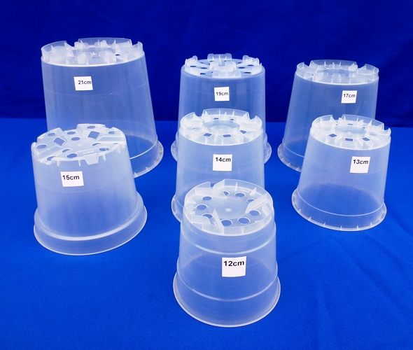 13cm Clear Pots, Non aircone type. sold in packs of 5 only