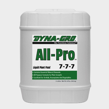All-Pro 7-7-7 is an all-purpose formula. 1 x US Gallon
