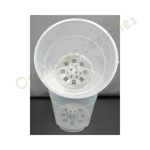 13cm Clear Aircone Round Pot.sold in packs of 5 only