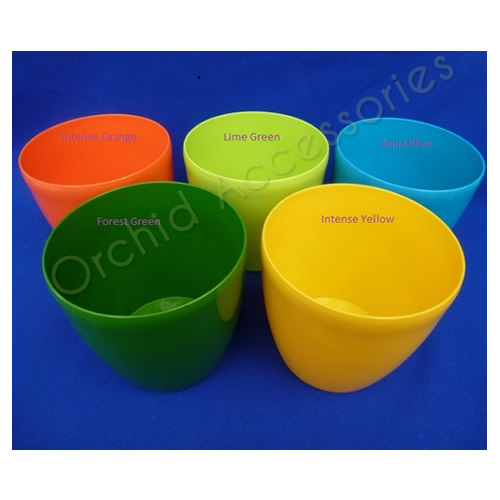 Elho 14cm Orchid Planter Pots in New Bright Colours