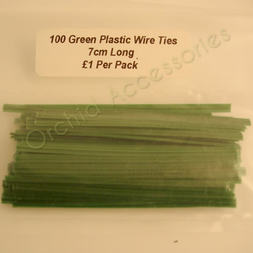 Green Plastic Coated Wire Ties